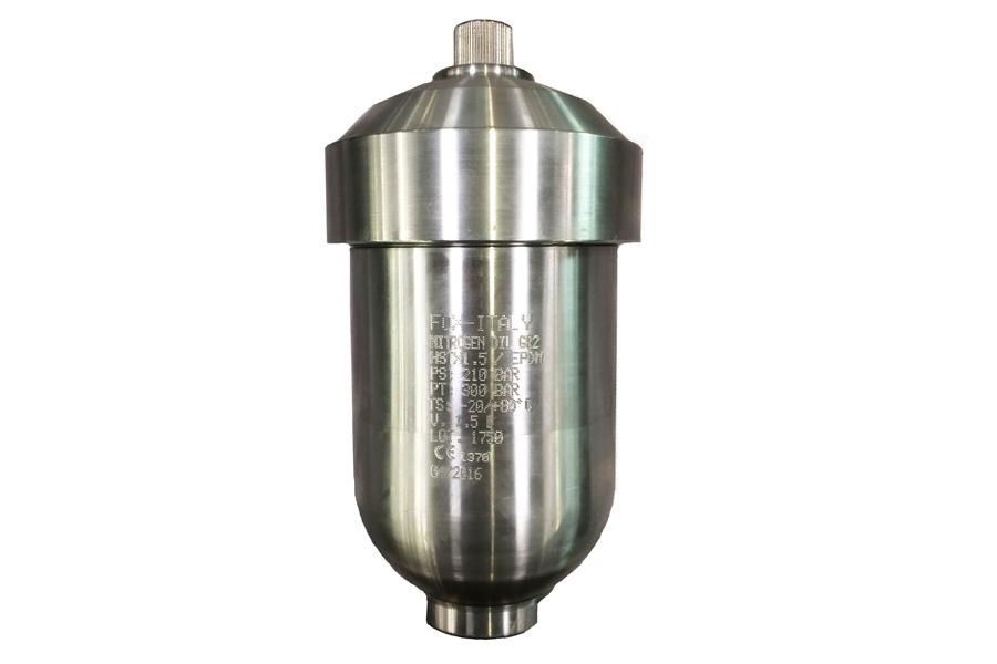 HSTX - Inox Steel - Hydraulic Accumulators - Diaphragm Type