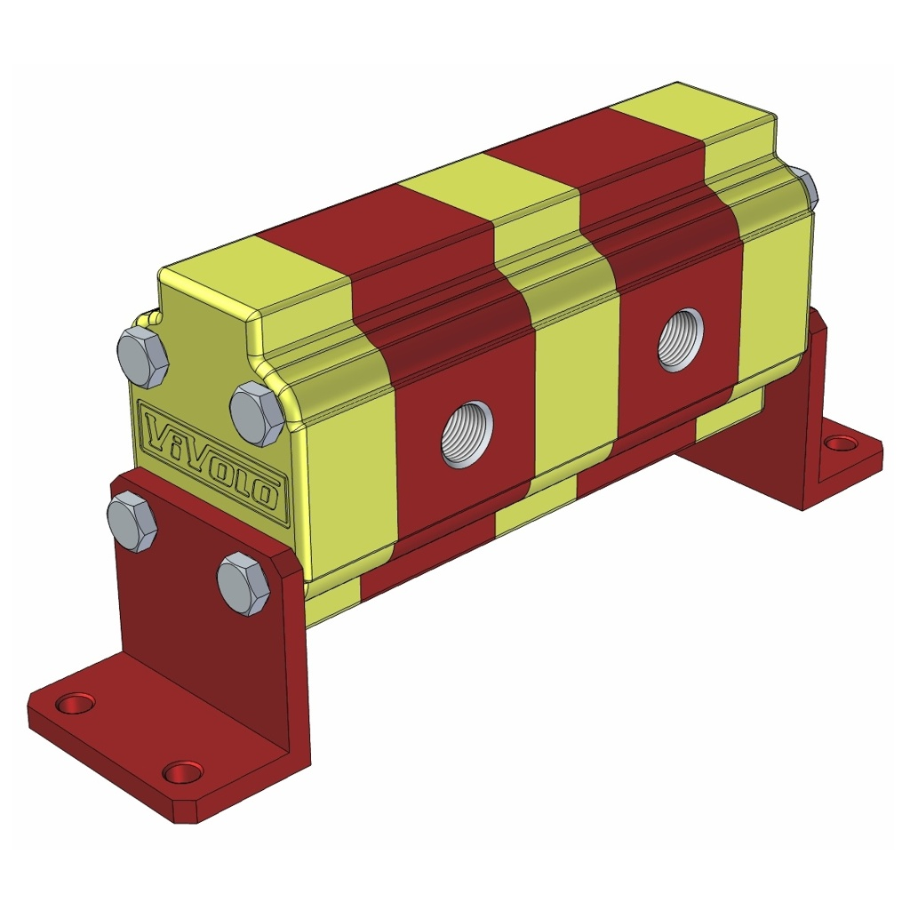 Hydraulic Gear Flow Divider - Gr. 0 / 0.16 – 2.28 cm3/rev - RV-0D – FLOW DIVIDER WITHOUT VALVES