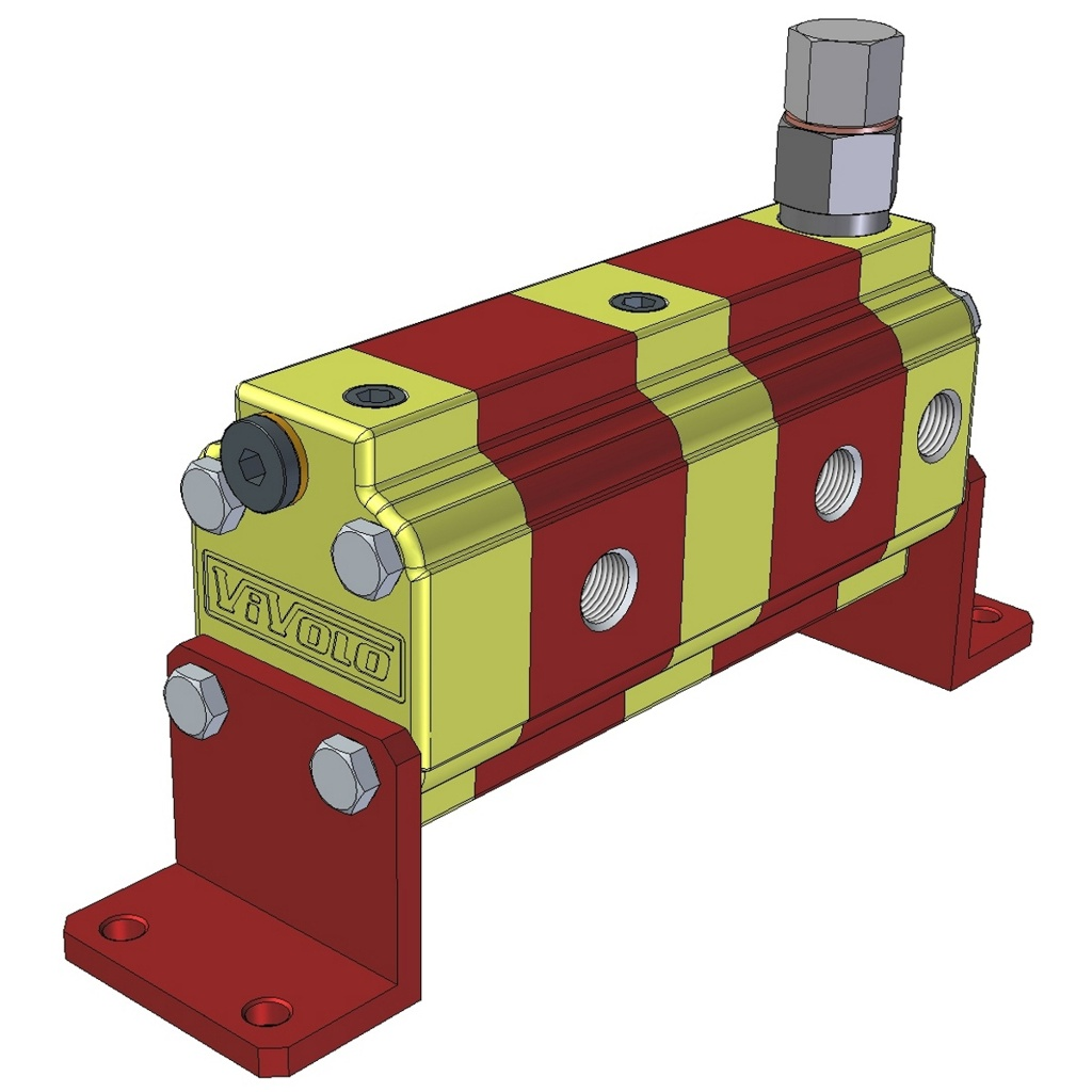 Hydraulic Gear Flow Divider - Gr. 0 / 0.16 – 2.28 cm3/rev - RV-0S – FLOW DIVIDERS WITH SINGLE PHASE CORRECTION VALVE