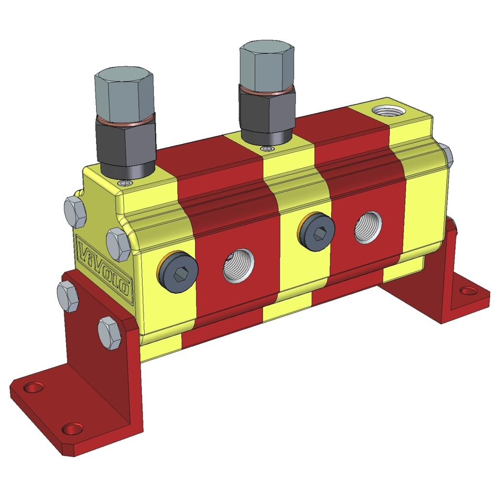 Hydraulic Gear Flow Divider - Gr. 0 / 0.16 – 2.28 cm3/rev - RV-0V – FLOW DIVIDERS WITH INDEPENDENT PHASE CORRECTION AND ANTICAVITATION VALVES FOR EACH ELEMENT