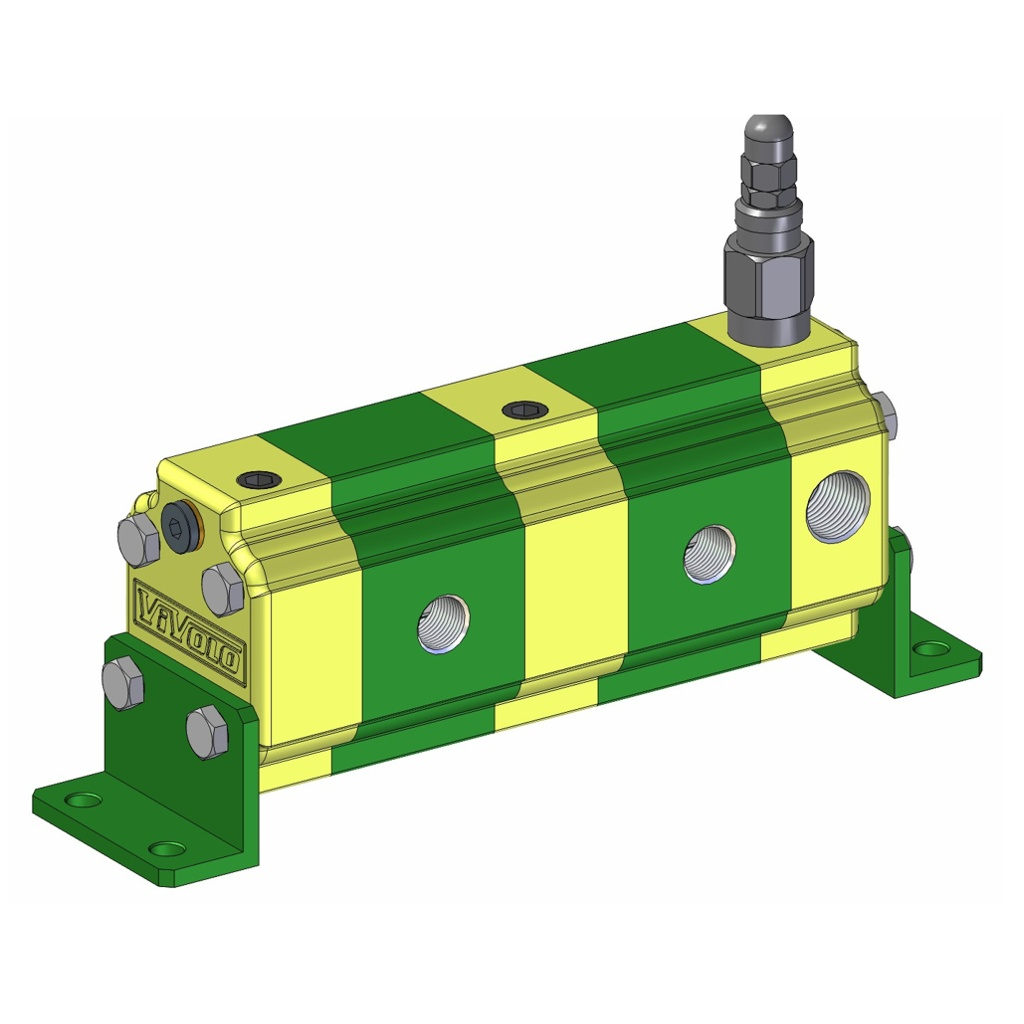 Hydraulic Gear Flow Divider - Gr. 1 / 0.91 – 9.88 cm3/rev - RV-1S – FLOW DIVIDERS WITH SINGLE PHASE CORRECTION VALVE