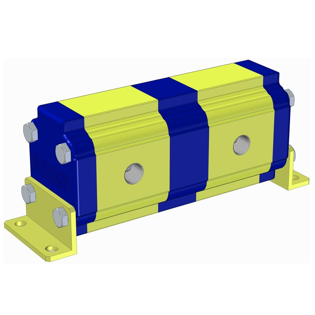 Hydraulic Gear Flow Divider - Gr. 2 / 4.2 – 39.6 cm3/rev - RV-2D – FLOW DIVIDER WITHOUT VALVES