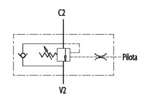 Hydraulic scheme - 3 WAY Single Counterbalance valves for open center