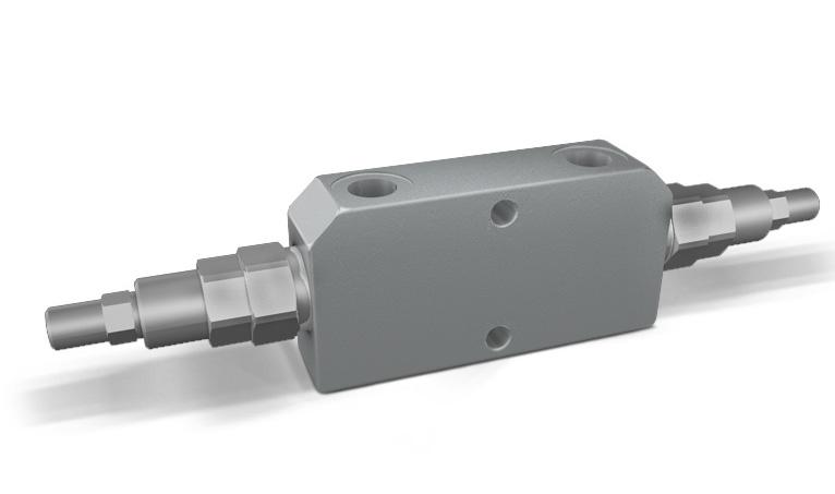 VBCD DE - Hydraulic Double Counterbalance valves for open center