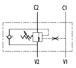 Hydraulic scheme - Hydraulic Single Counterbalance valves for open center