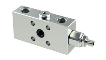 VBLH - Hydraulic Single Counterbalance valves for open center - Single Flanged Version