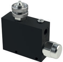 VPT AR - Hydraulic 3 WAY Flow control valve - Pressure Compensated, Exceeding Flow to tank and Check Valve