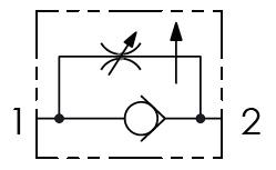 Hydraulic scheme - 2 WAYS FLOW CONTROL VALVES – PRESSURE COMPENSATED