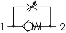 Hydraulic scheme - UNIDIRECTIONAL FLOW CONTROL VALVES