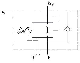 Hydraulic scheme - PRESSURE REDUCING VALVE WITH CHECK VALVE
