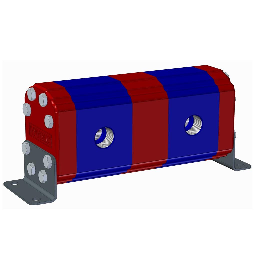 Hydraulic Gear Flow Divider - Gr. 3 / 14.89 – 86.87 cm3/rev - XV-3D – FLOW DIVIDER WITHOUT VALVES