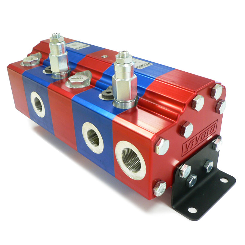 Hydraulic Gear Flow Divider - Gr. 3 / 14.89 – 86.87 cm3/rev - XV-3V – FLOW DIVIDER WITH SINGLE PHASE CORRECTION AND AN ANTI-CAVITATION