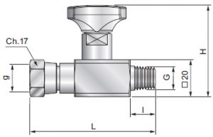 ES180ZL - Anti-shock valve swivel straight connection