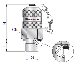 Test couplings for pressure checking - Type C