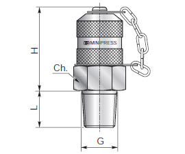 Test couplings for pressure checking - Type D