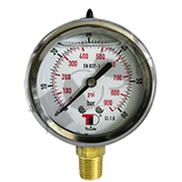 D63 - Hydraulic Pressure Gauges With Glycerin