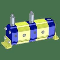 Hydraulic Gear Flow Divider - Gr. 2 / 4.2 – 39.6 cm3/rev