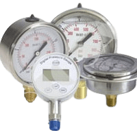 Hydraulic Pressure Gauges With Glycerin